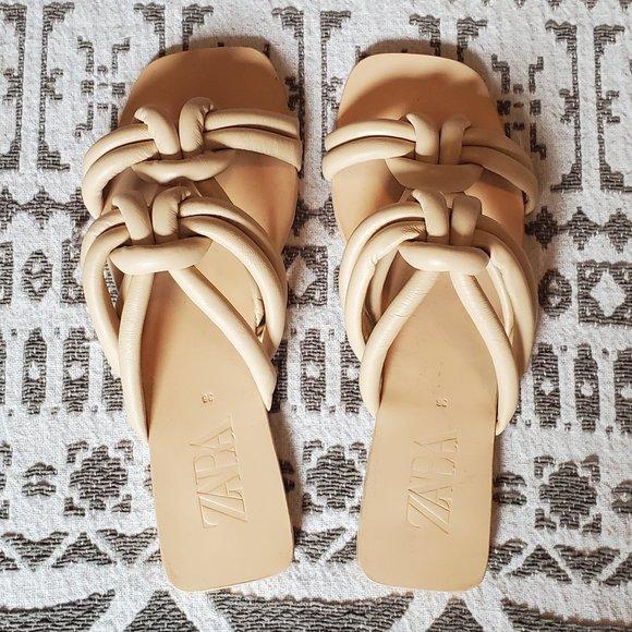 Zara Women's Leather Sandals/Slides